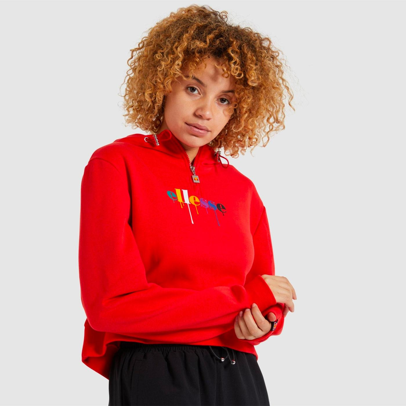 Toma ELLESSE Women's Paint Drip Logo Hoody (Red)