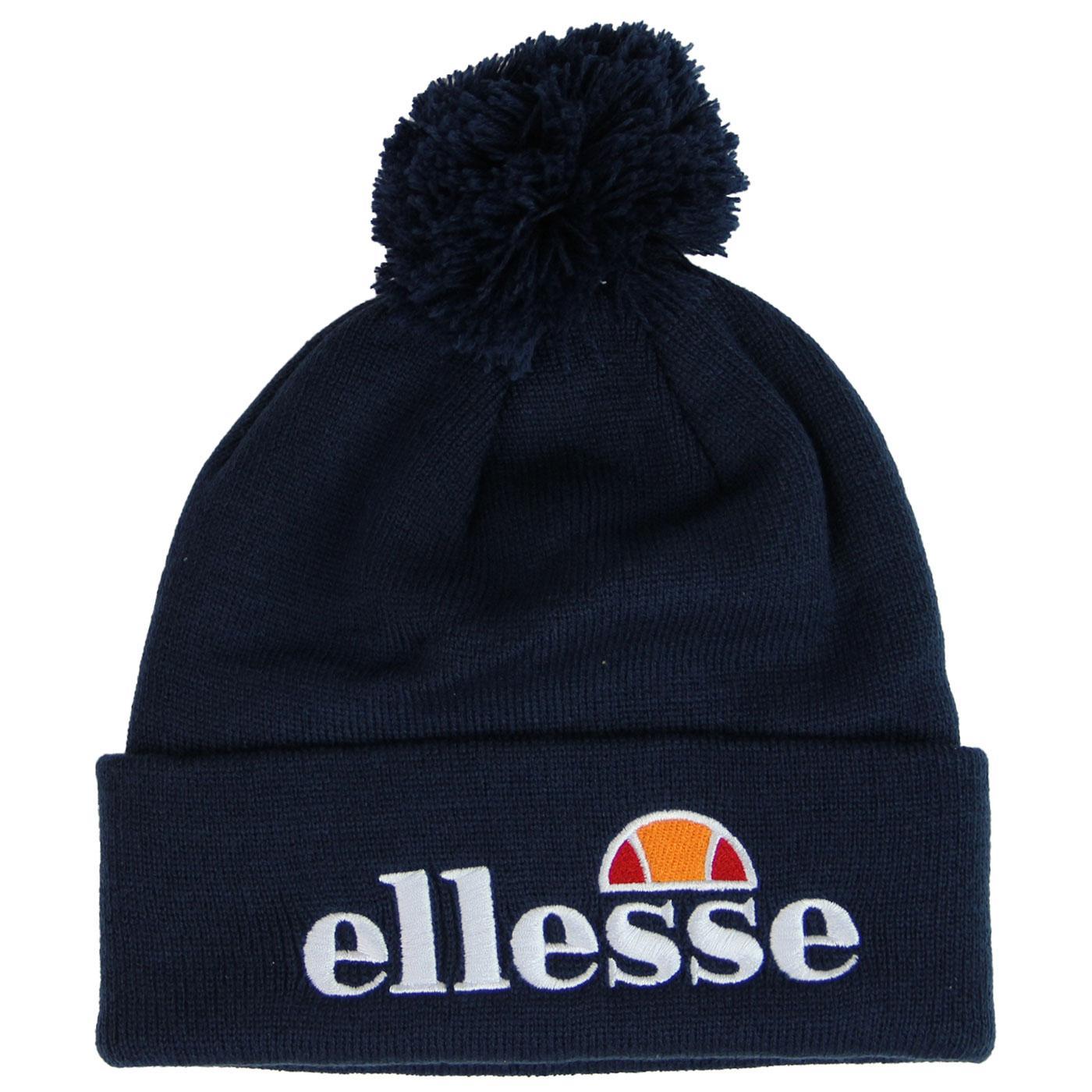 Velly ELLESSE Retro 80's Knitted Logo Bobble Hat