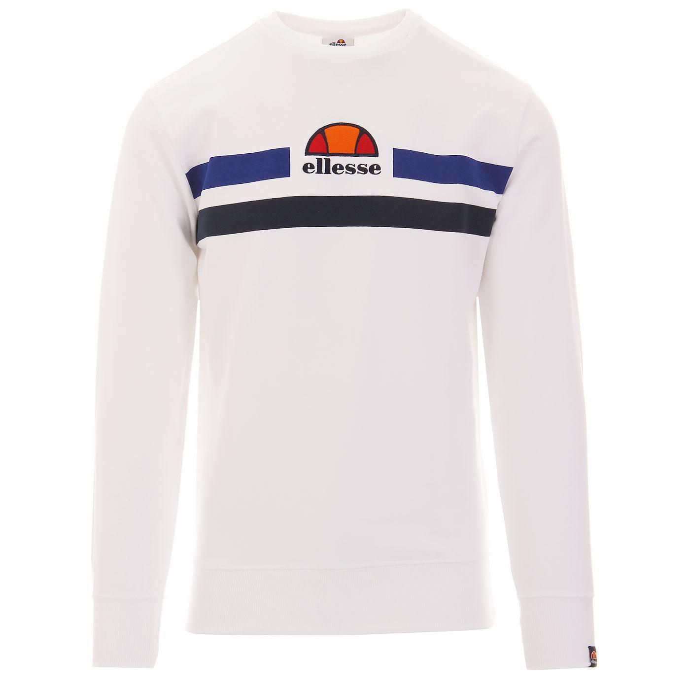 Vete ELLESSE Men's Retro Eighties Sweatshirt WHITE