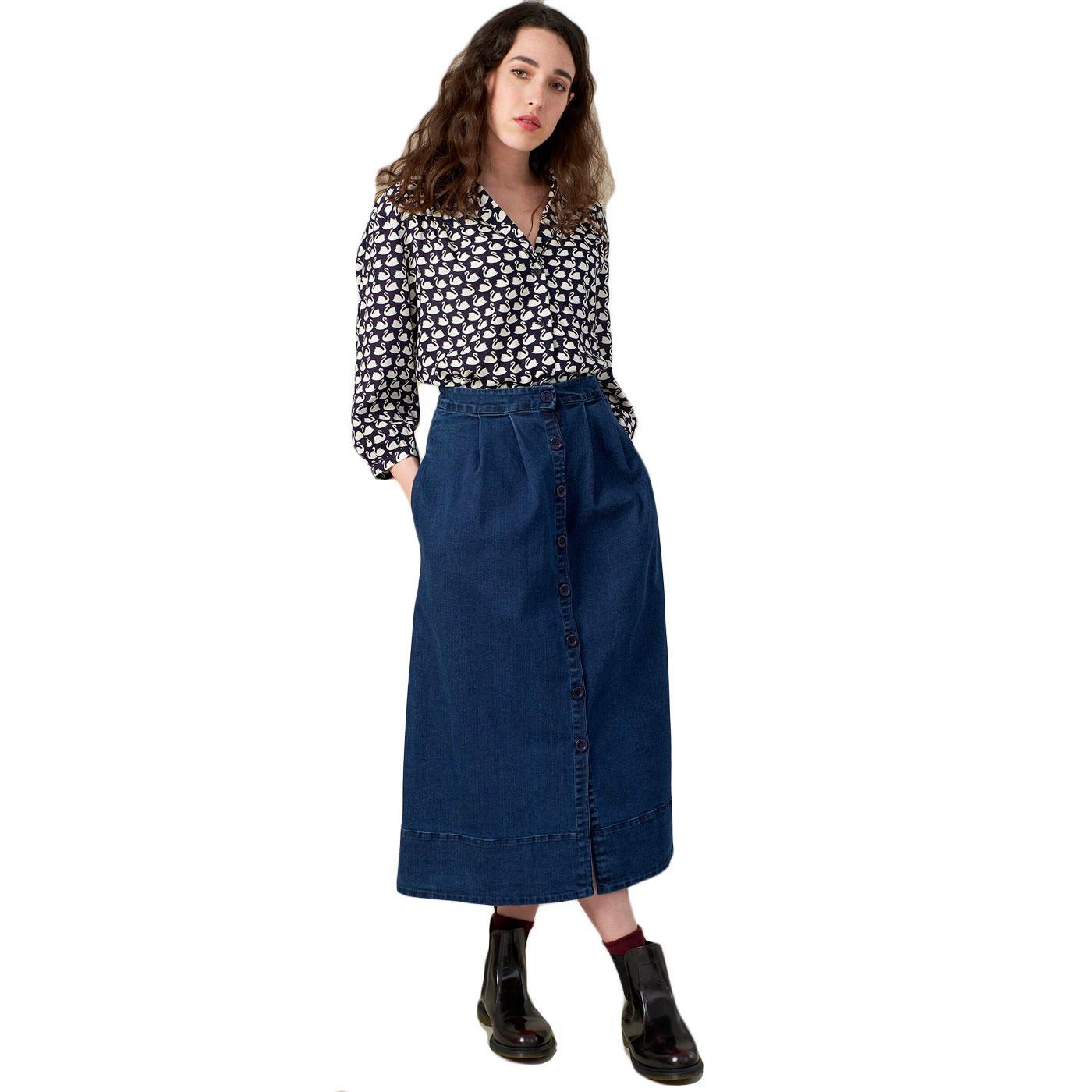 Brianna EMILY & FIN Retro 1970s Denim Maxi-Skirt