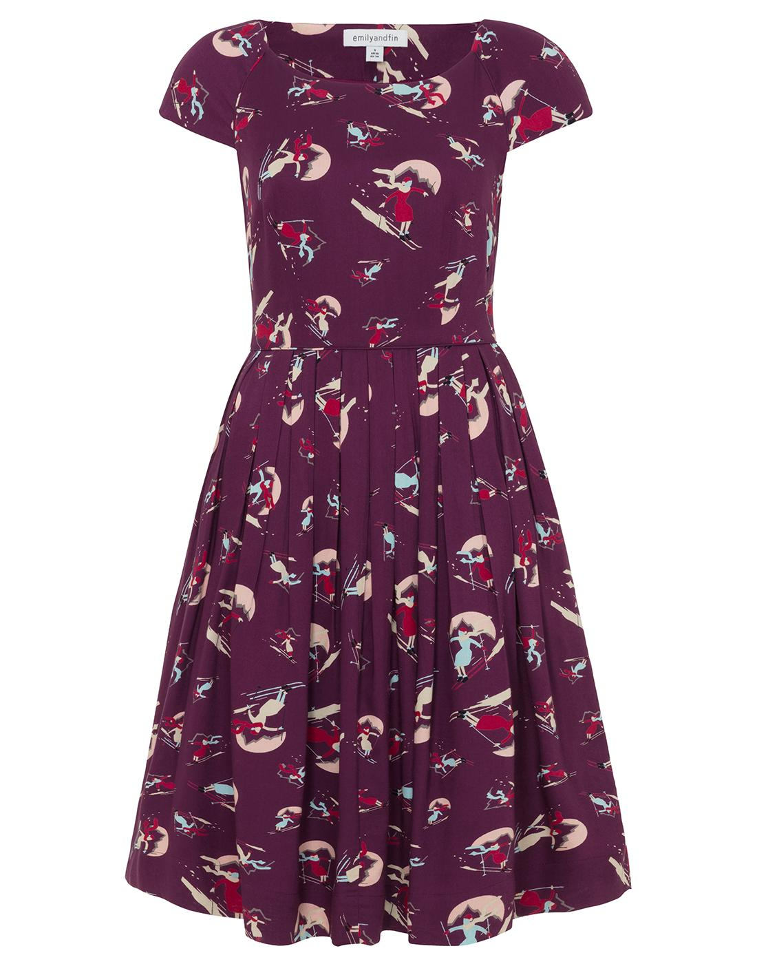 Claudia EMILY AND FIN Retro Vintage Skiers Dress