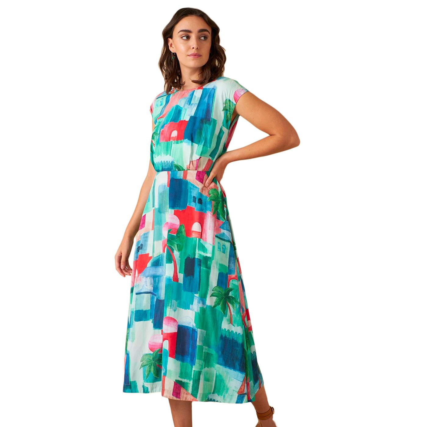 Elodie EMILY & FIN Marrakech Landscape Midi Dress