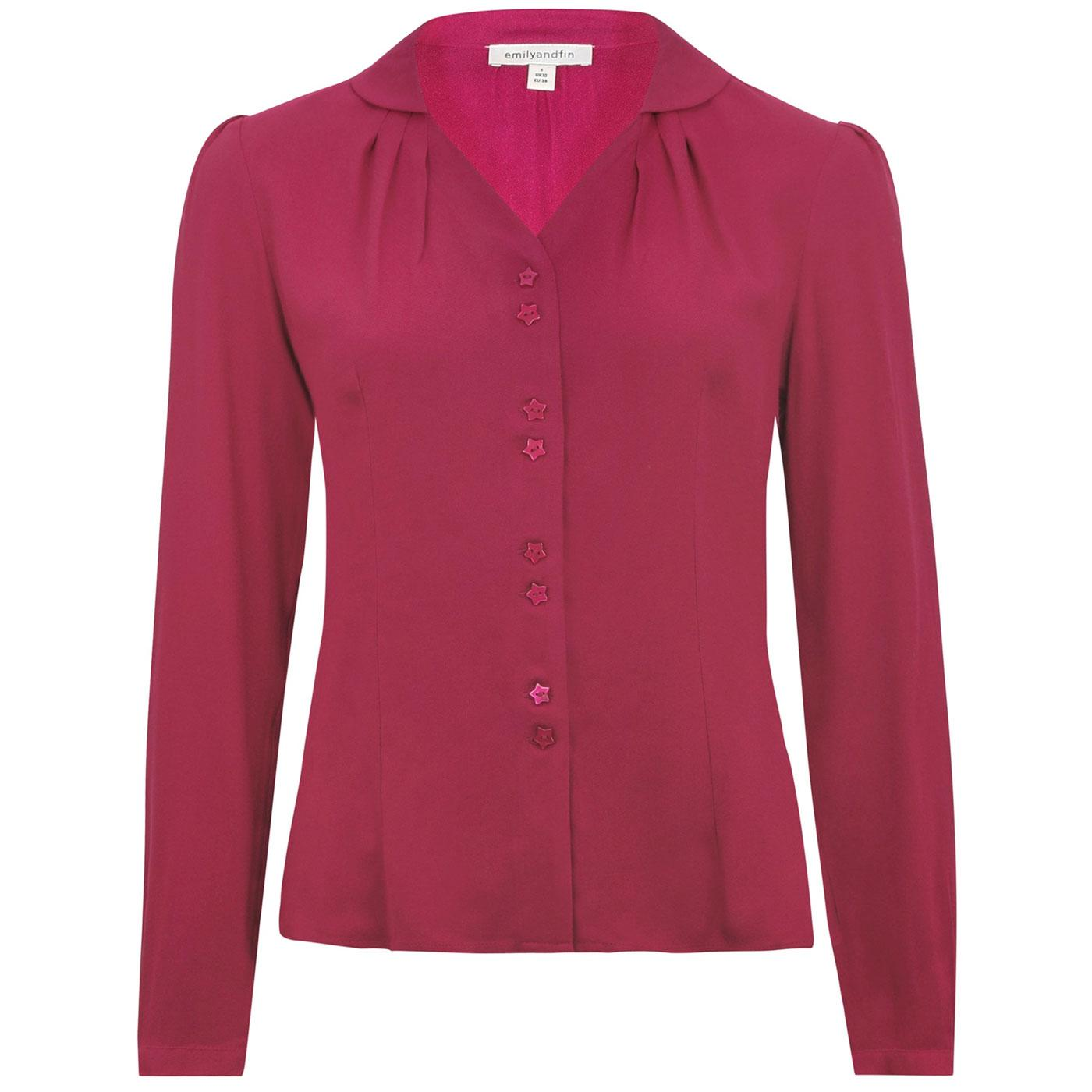 Elspeth EMILY AND FIN Retro Raspberry Crepe Shirt