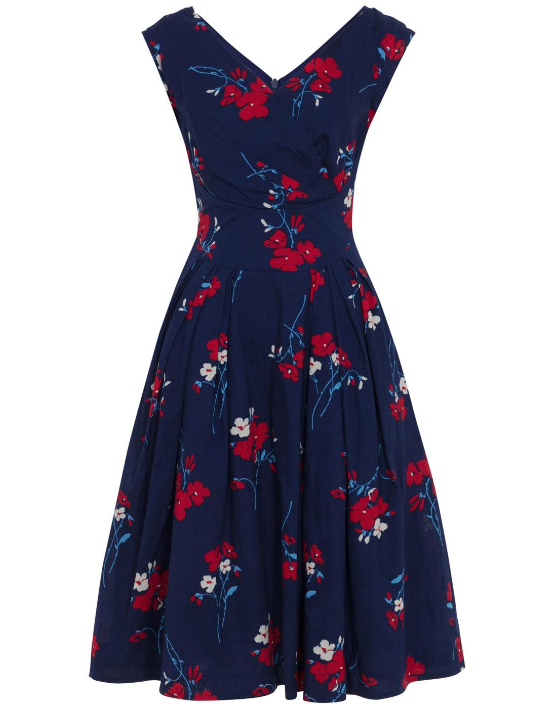 Florence EMILY AND FIN 50s Vintage Floral Dress