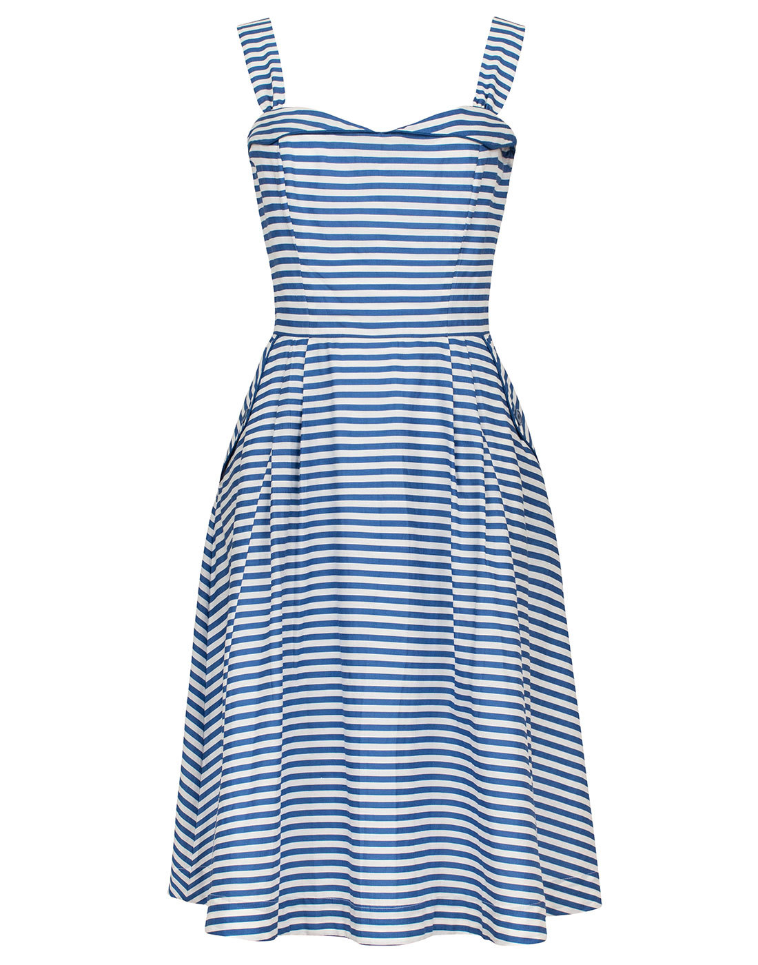 emily and fin pippa retro vintage 50s summer dress blue