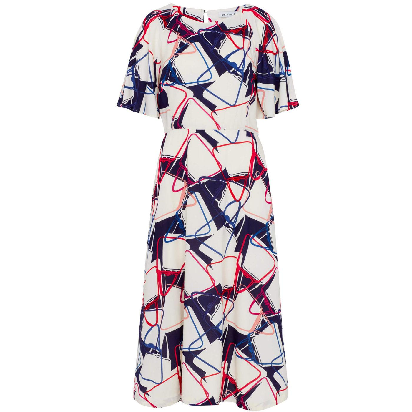 Suzanna EMILY & FIN Abstract Handbag Printed Dress