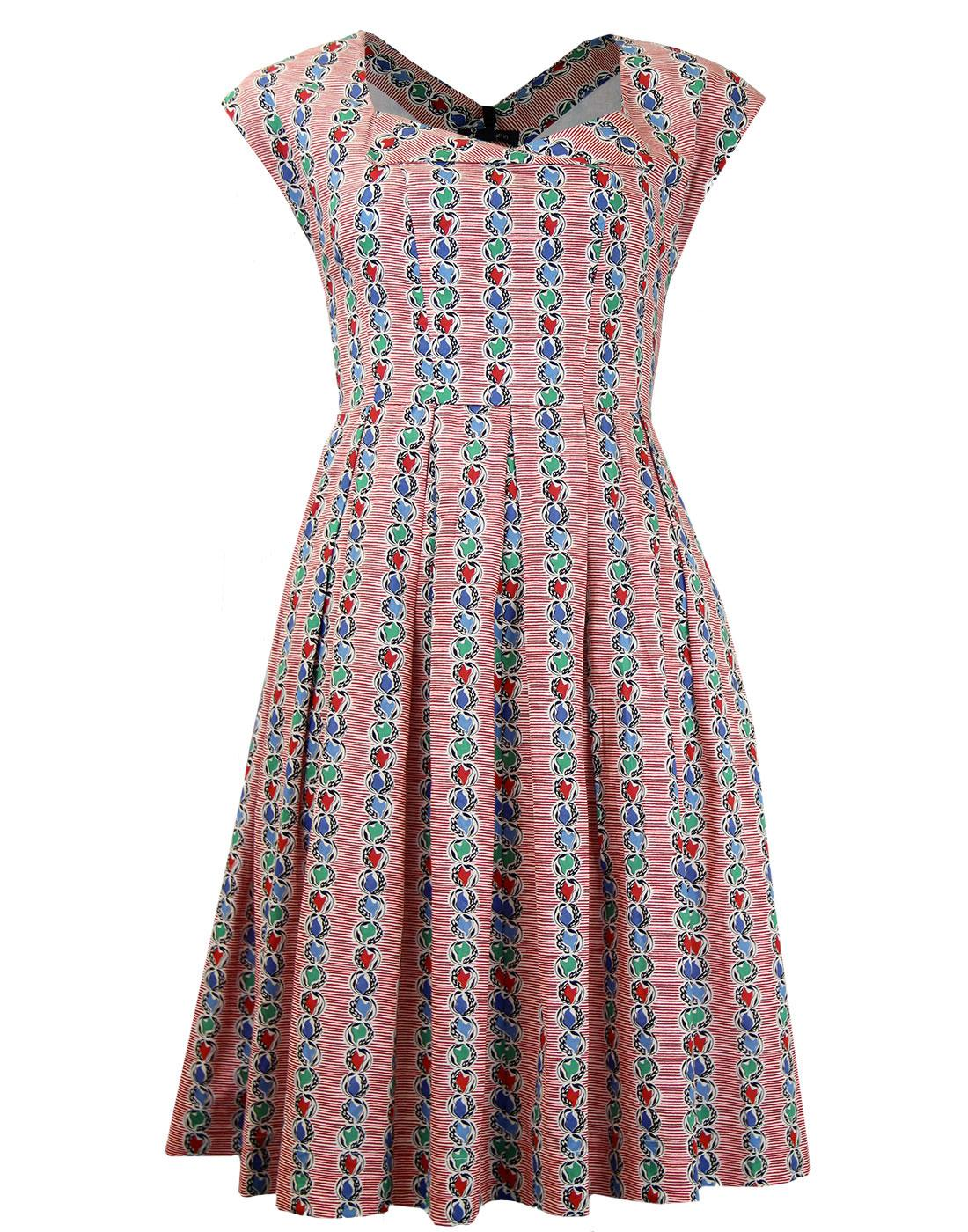 Hazel EMILY AND FIN Retro 40s Marble Summer Dress