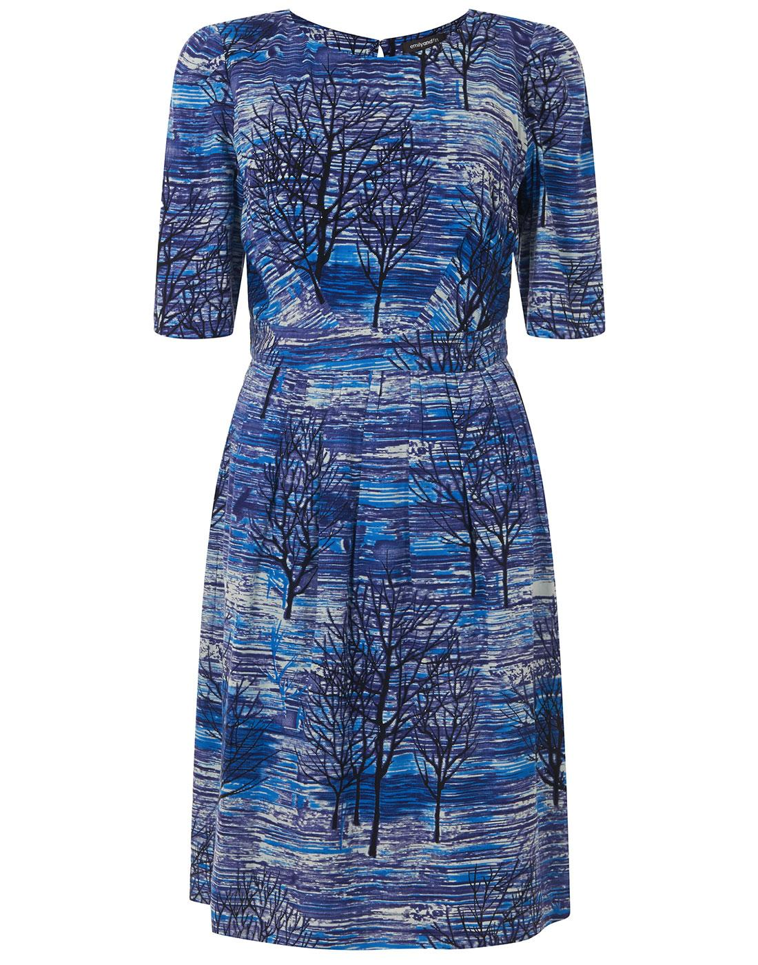 Heather EMILY AND FIN Tree Silhouette Print Dress