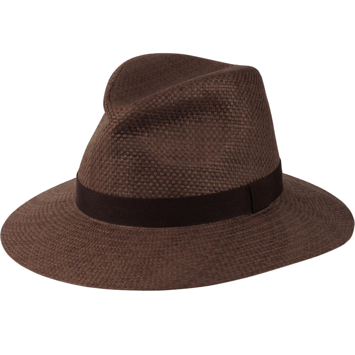 FAILSWORTH Straw Ambassador Fedora Hat (Tobacco)