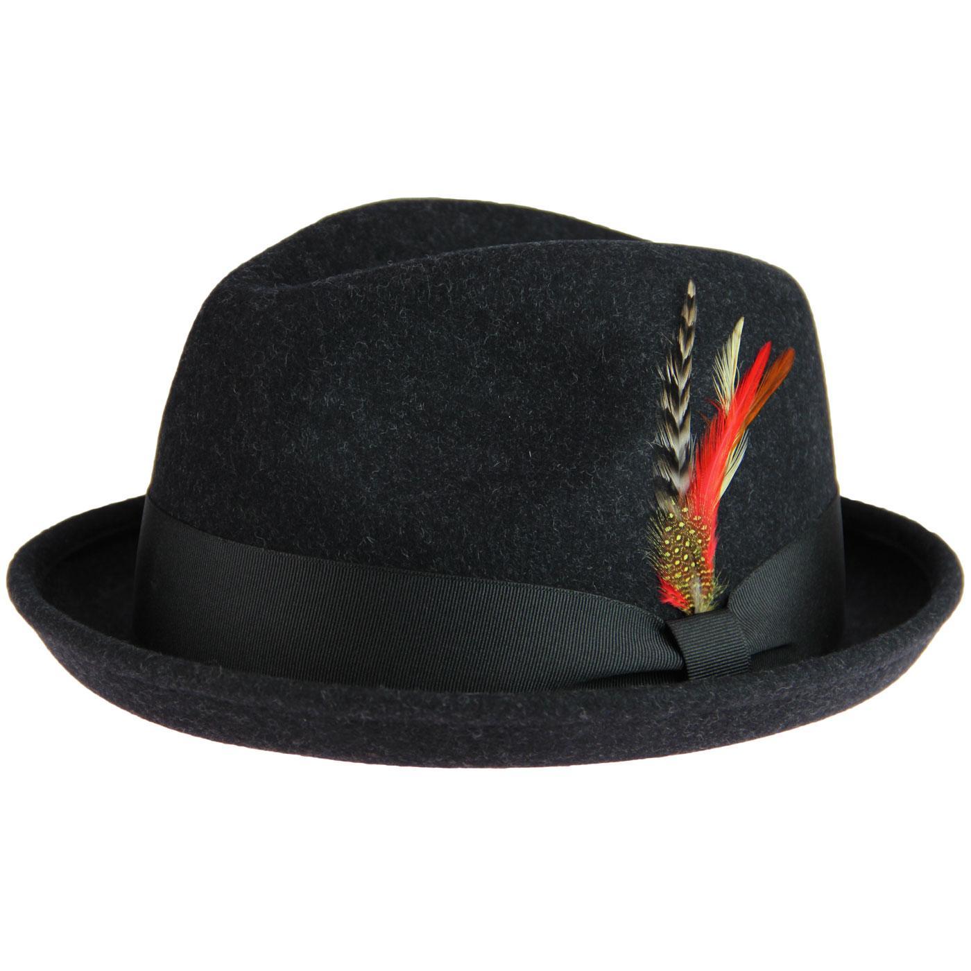 Brooklyn FAILSWORTH Mod Bluesman Trilby Hat (Grey)