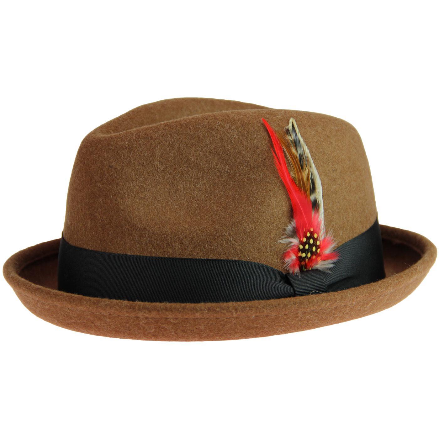 Brooklyn FAILSWORTH Mod Bluesman Trilby Hat PECAN