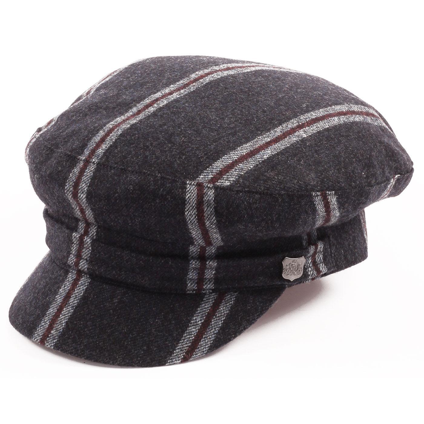 FAILSWORTH 60s Mod Camden Stripe Beatle Hat (Navy)