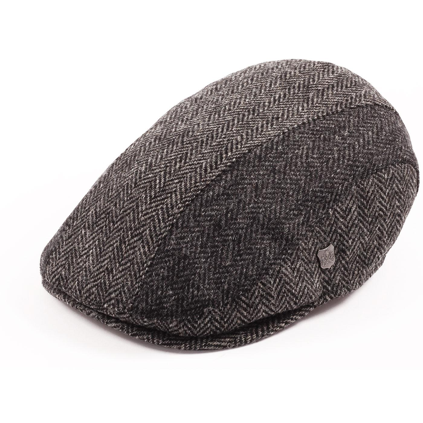Dalston FAILSWORTH Herringbone Stripe Flat Cap (G)