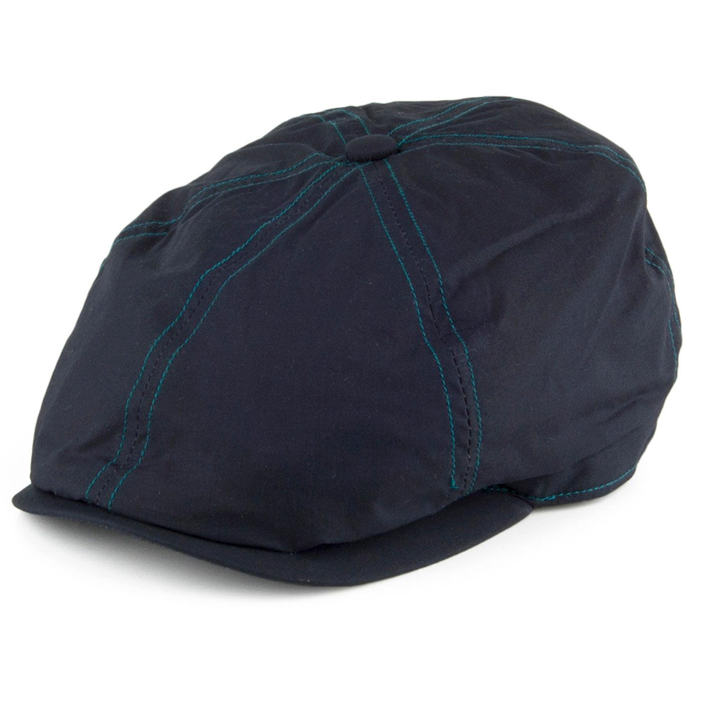 FAILSWORTH Hudson Dry Wax 6 Panel Newsboy Cap NAVY