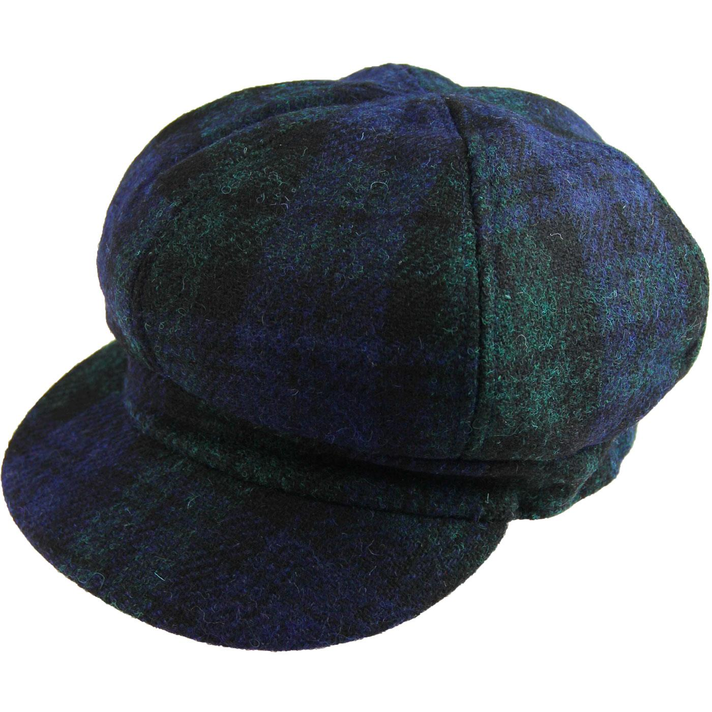 FAILSWORTH Women's Harris Tweed Bakerboy Cap (N/G)
