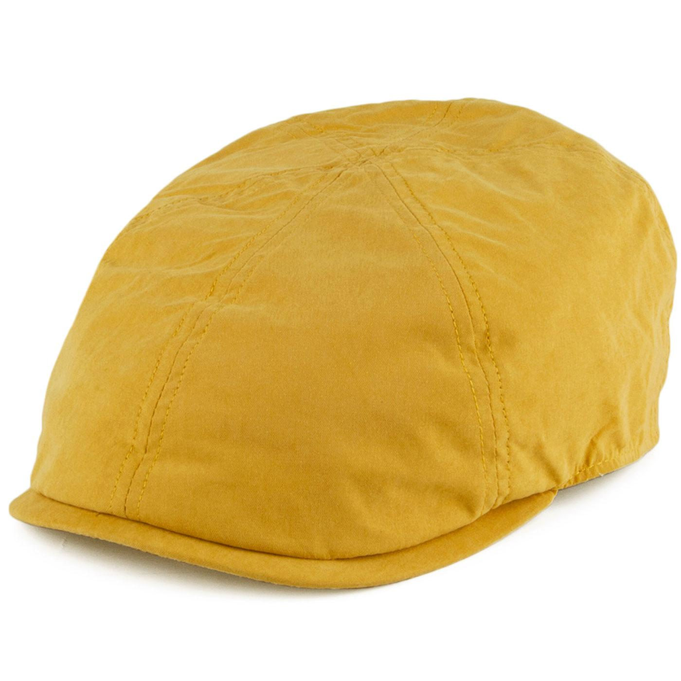 FAILSWORTH Micro 6 Panel Retro Newsboy Cap MUSTARD