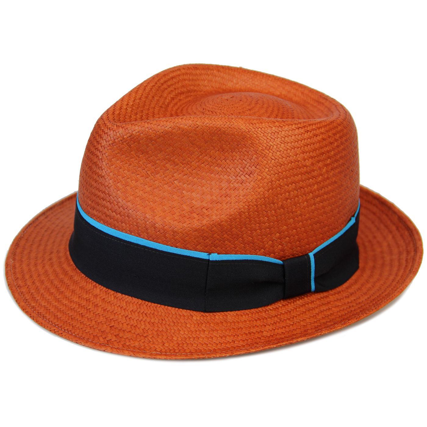 FAILSWORTH Retro Mod Contrast Stripe Panama Hat A