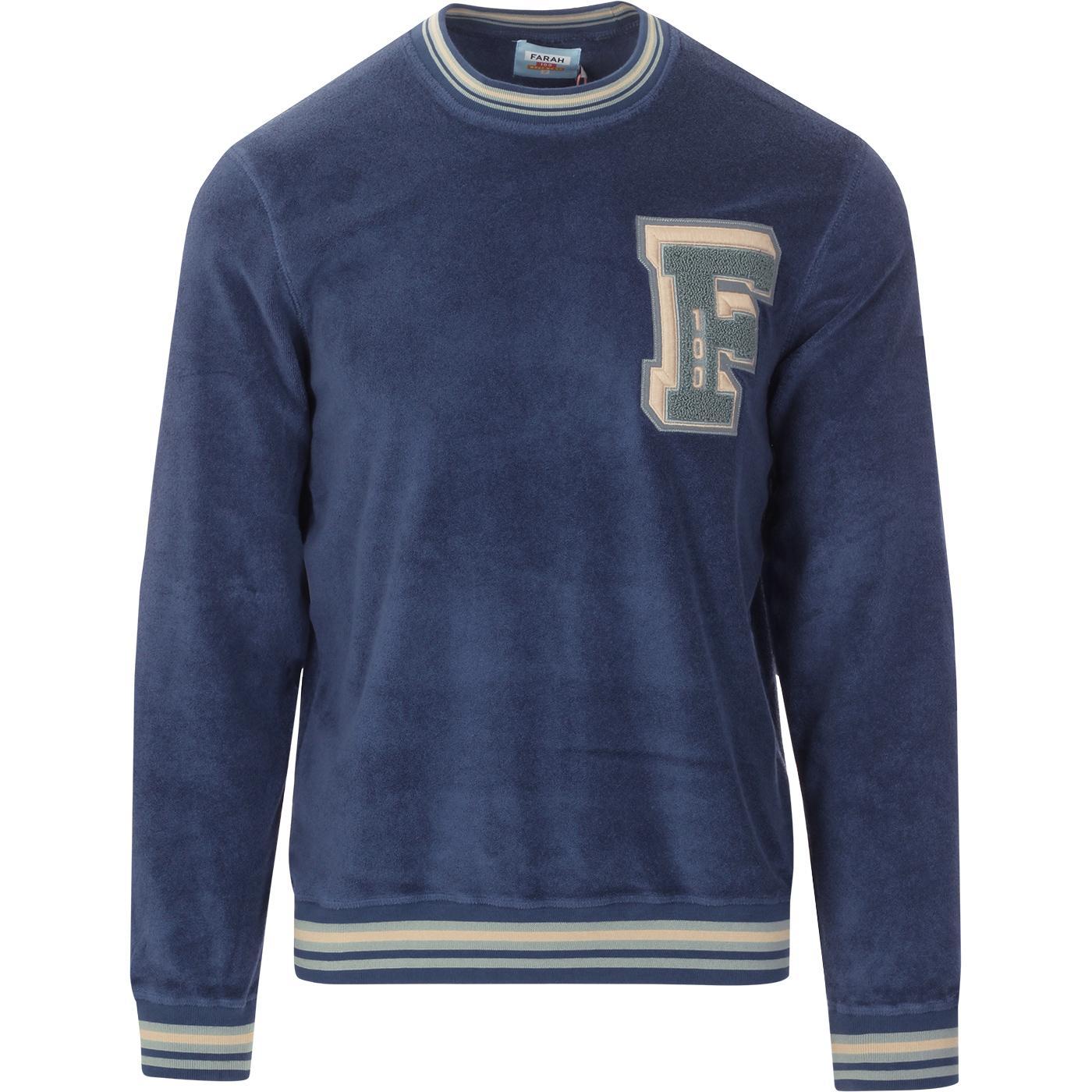 Alameda FARAH 100 Retro Towelling Sweatshirt (DB)