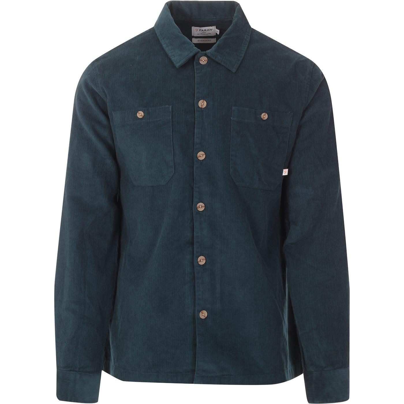 Amberson FARAH Retro Cord Overshirt (Atlantic)
