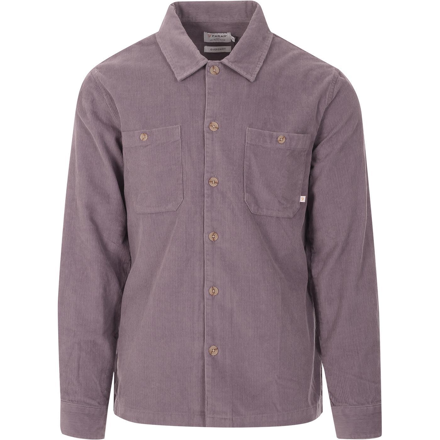 Amberson FARAH Retro Cord Overshirt (Purple Ash)