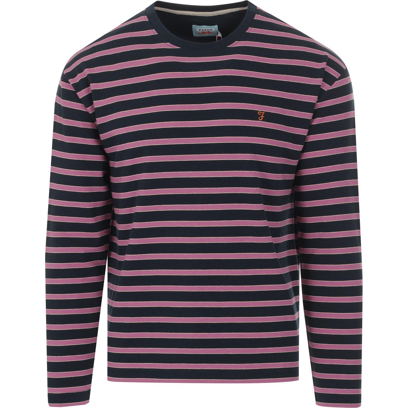 FARAH 100 Barrio 70s Stripe Heavyweight Tee (Yale)