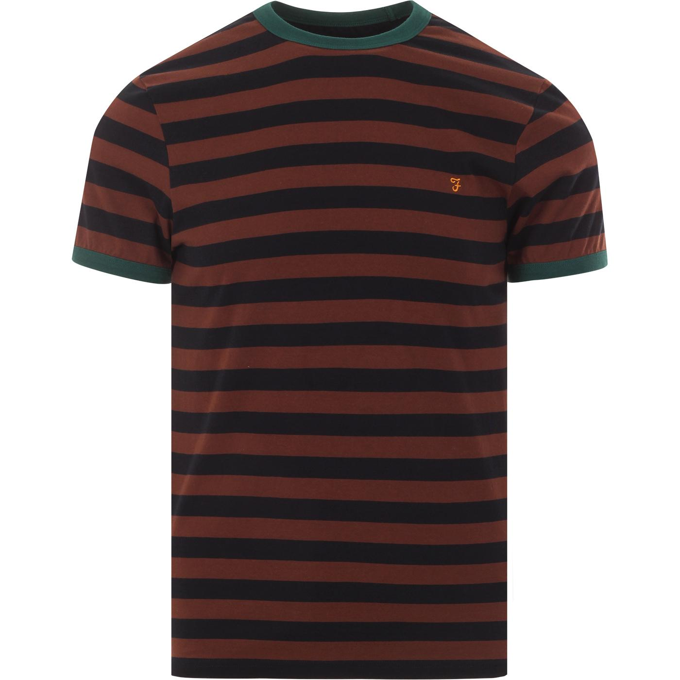 Belgrove FARAH Mens Retro Mod Striped T-Shirt (FB)