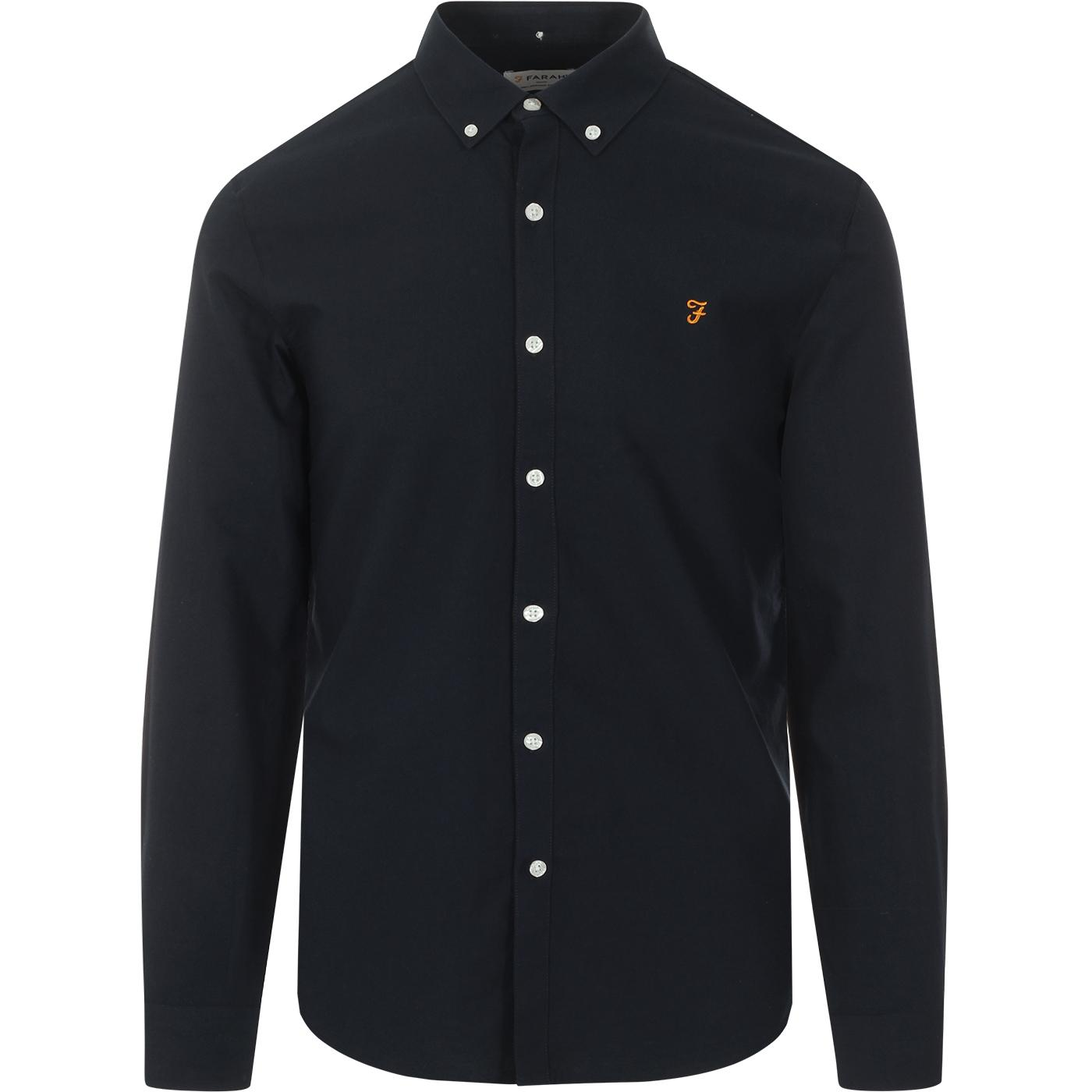 Brewer FARAH Slim Button Down Oxford Shirt (Navy)