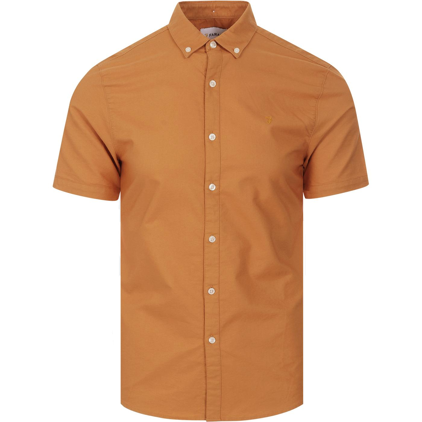 Brewer FARAH Mod S/S Oxford Shirt (Pale Orange)