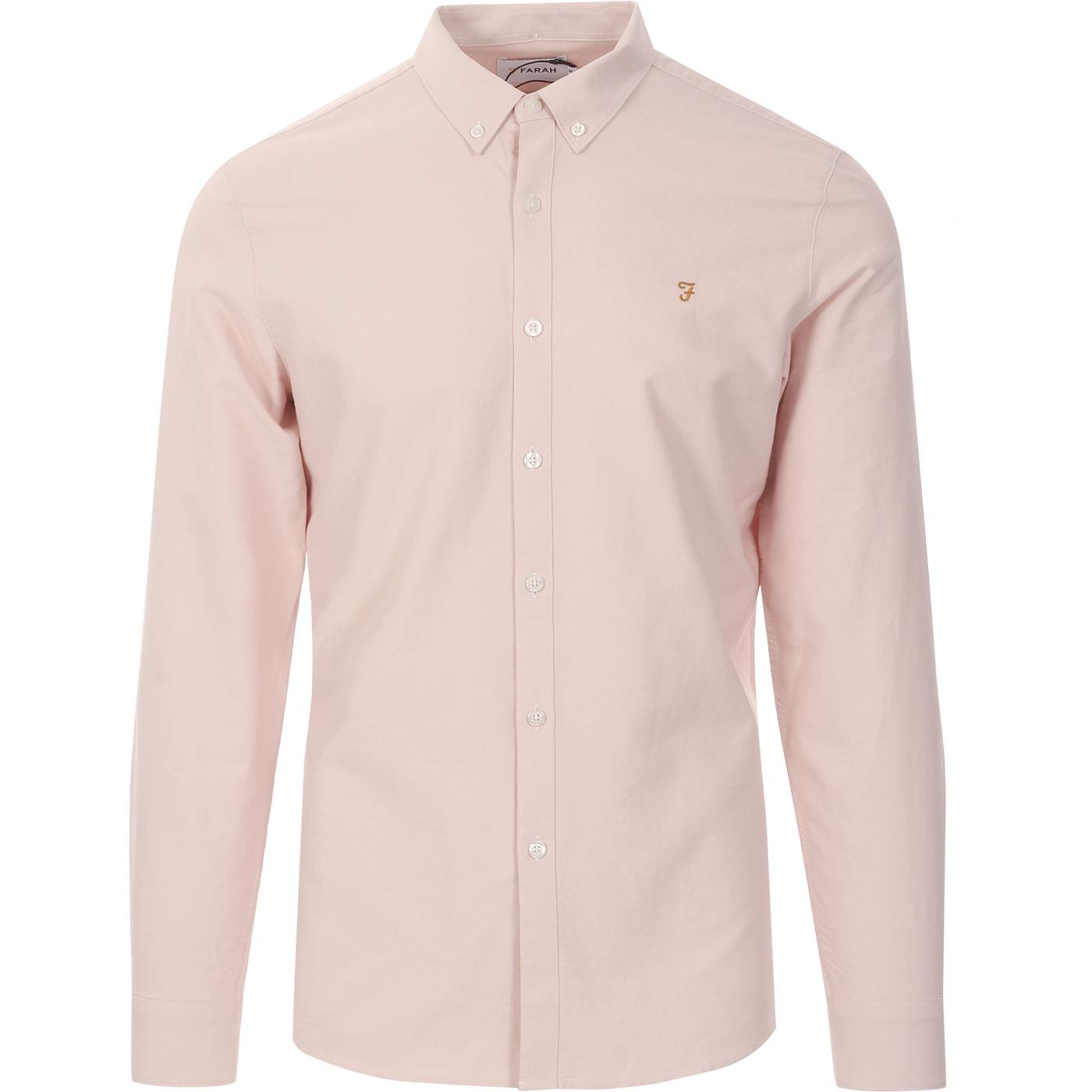 Brewer FARAH Slim Button Down Oxford Shirt (Pink)