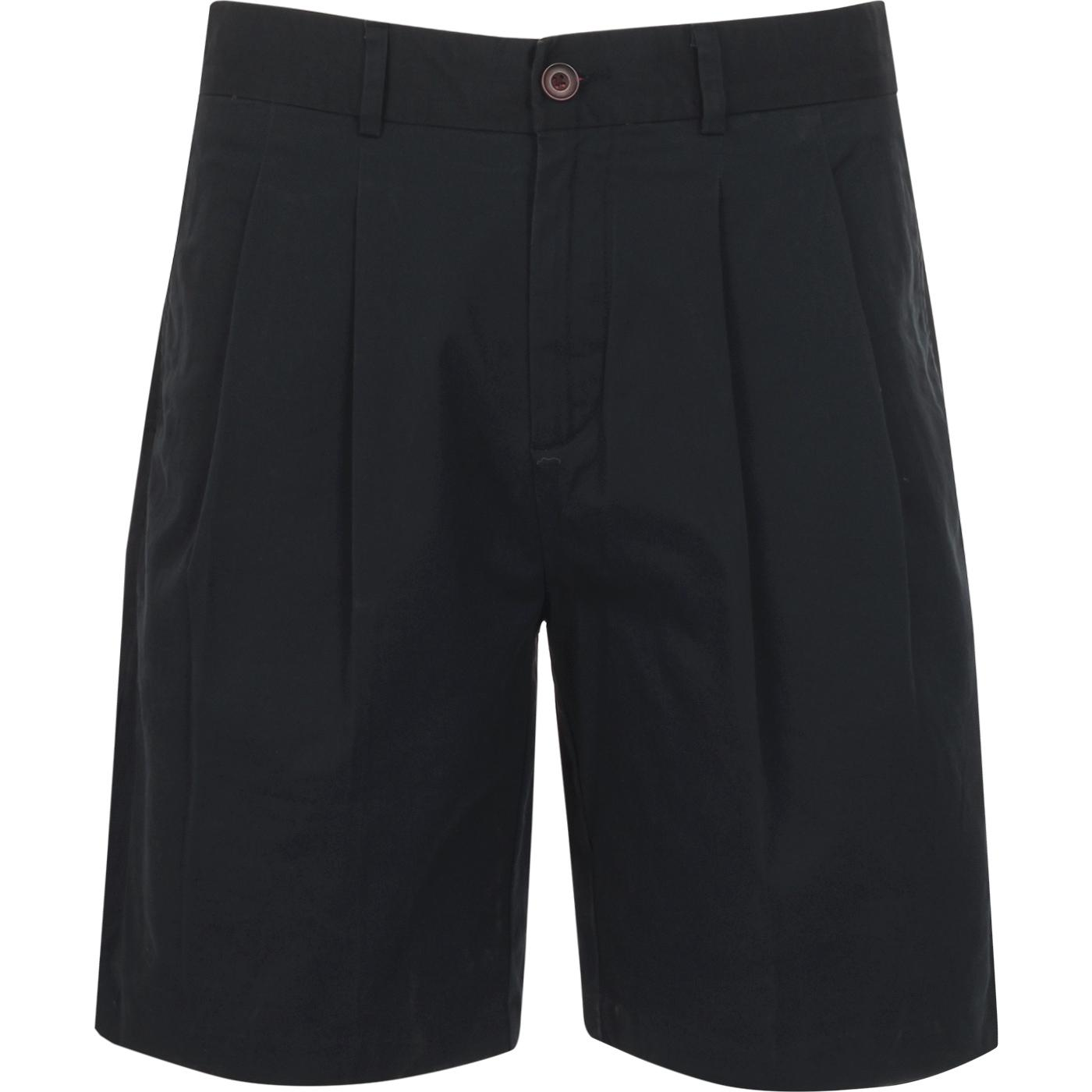 Casey FARAH 100 Retro Double Pleat Chino Shorts N