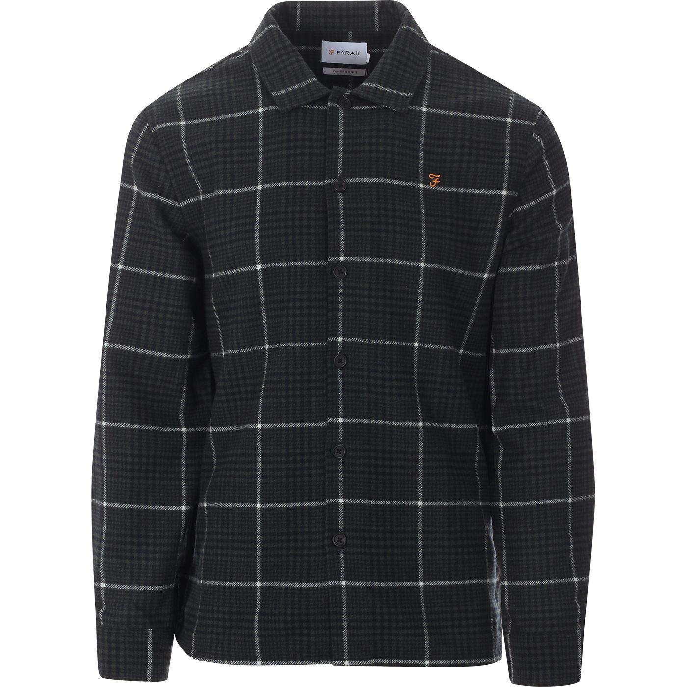 Choctaw FARAH Retro Mod Wool Blend Check Overshirt