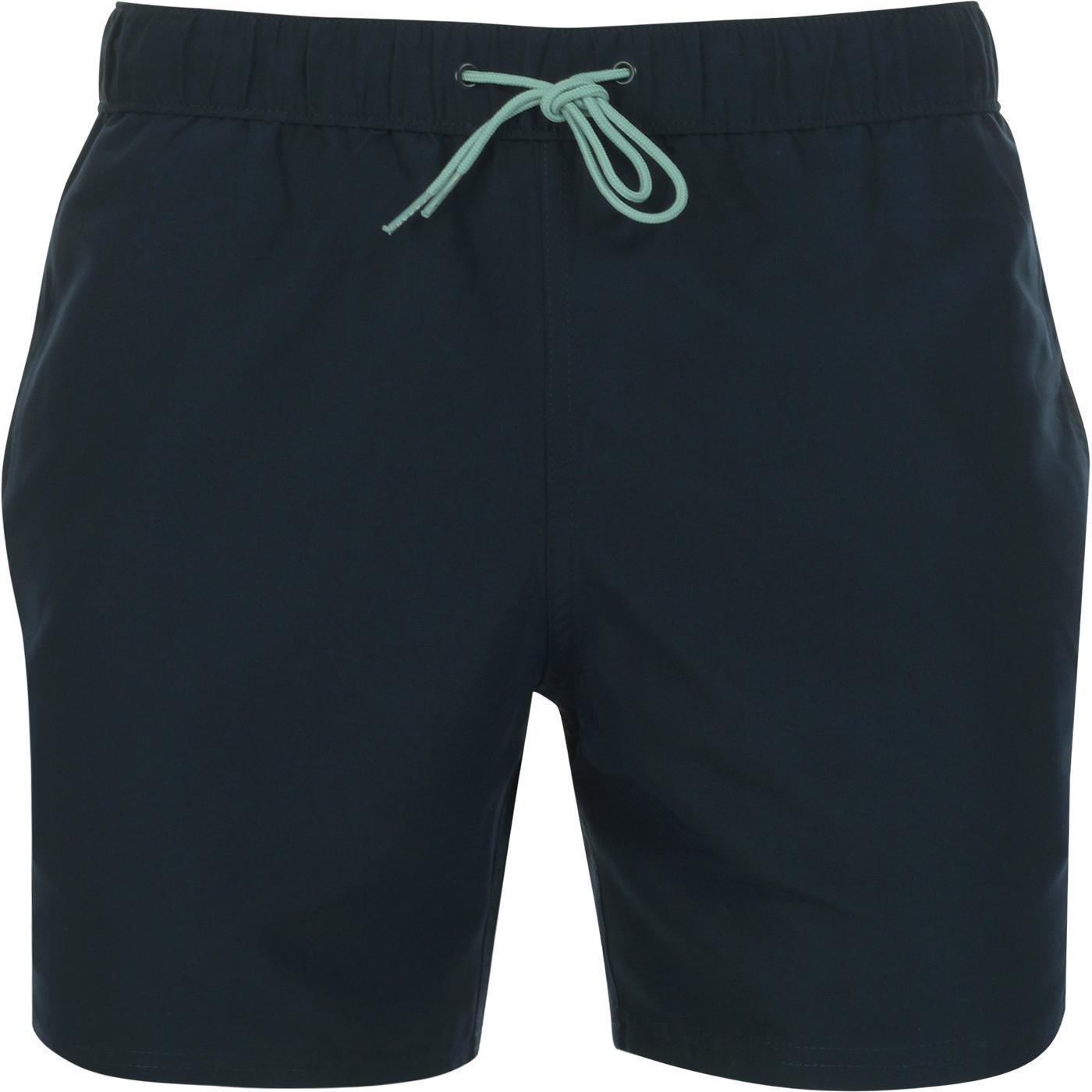 Colbert FARAH Retro Indie Plain Swim Shorts Yale