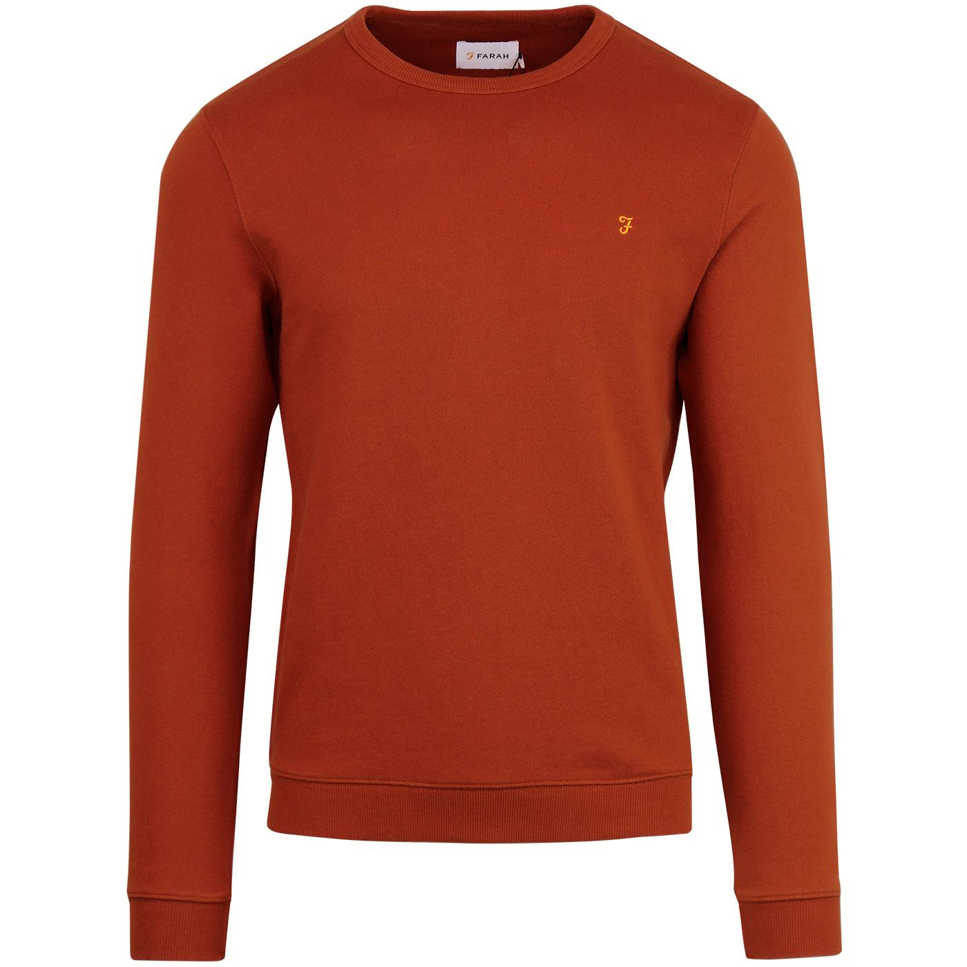 Pickewell FARAH Mens Retro Indie Sweatshirt (Rust)
