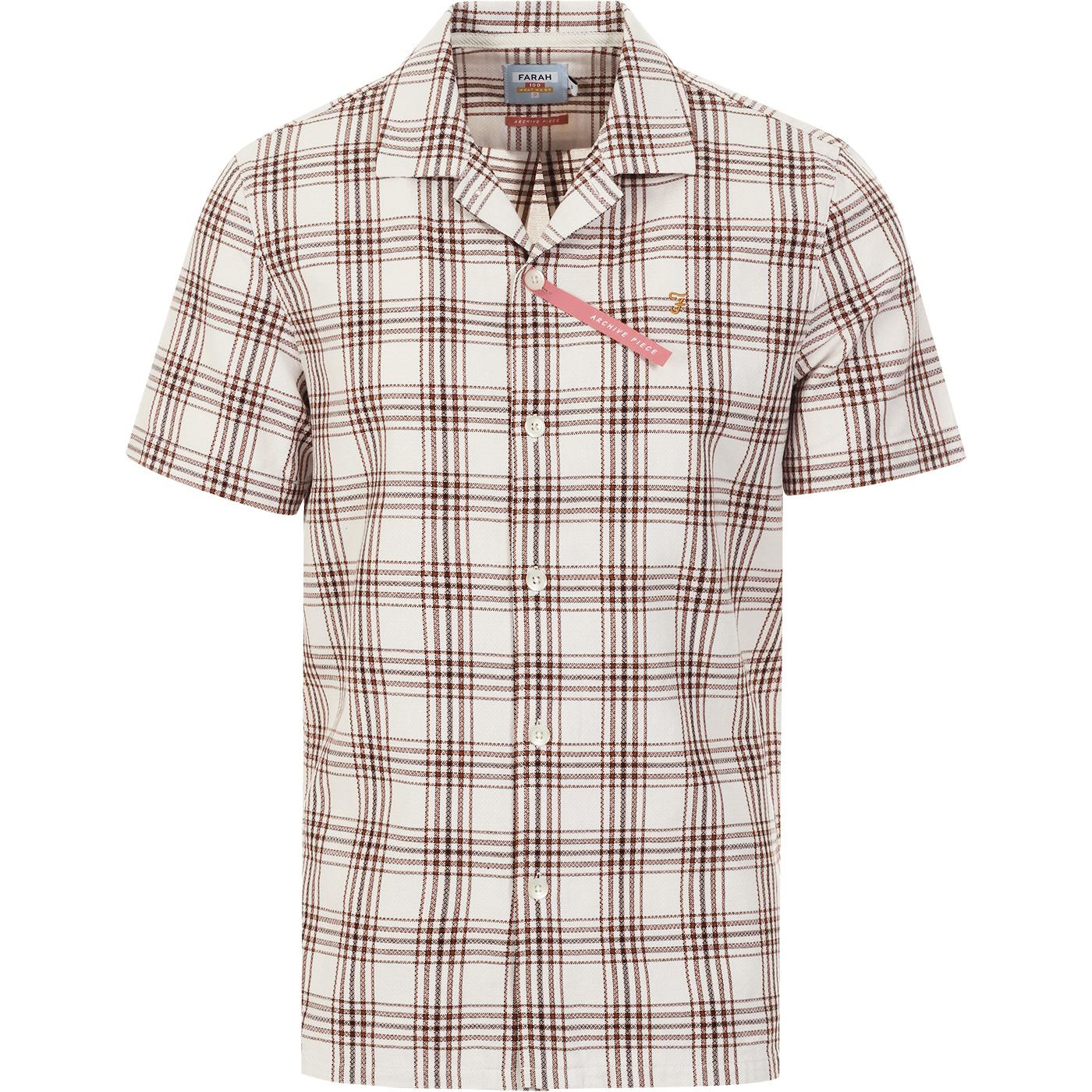 Crockett FARAH Archive Check Seersucker Shirt (R)
