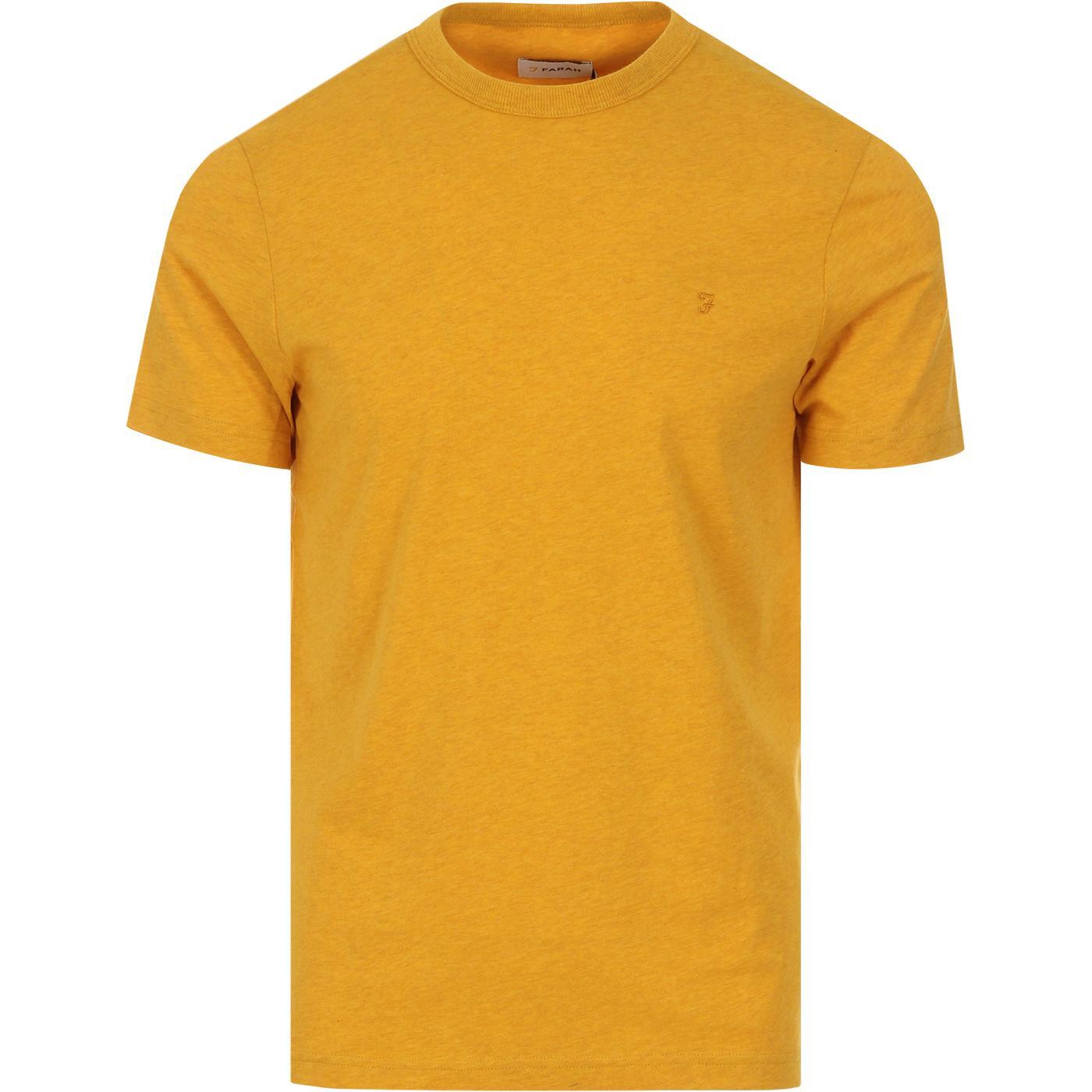 Danny FARAH Retro Marl Crew Neck Tee (Mustard)