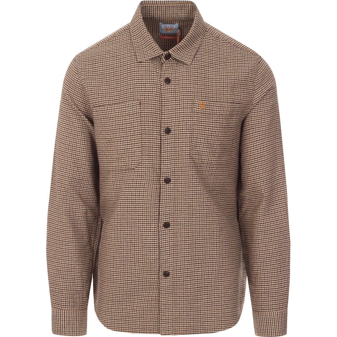 Dekker FARAH 100 Mod 60s Dogtooth Tweed Shirt