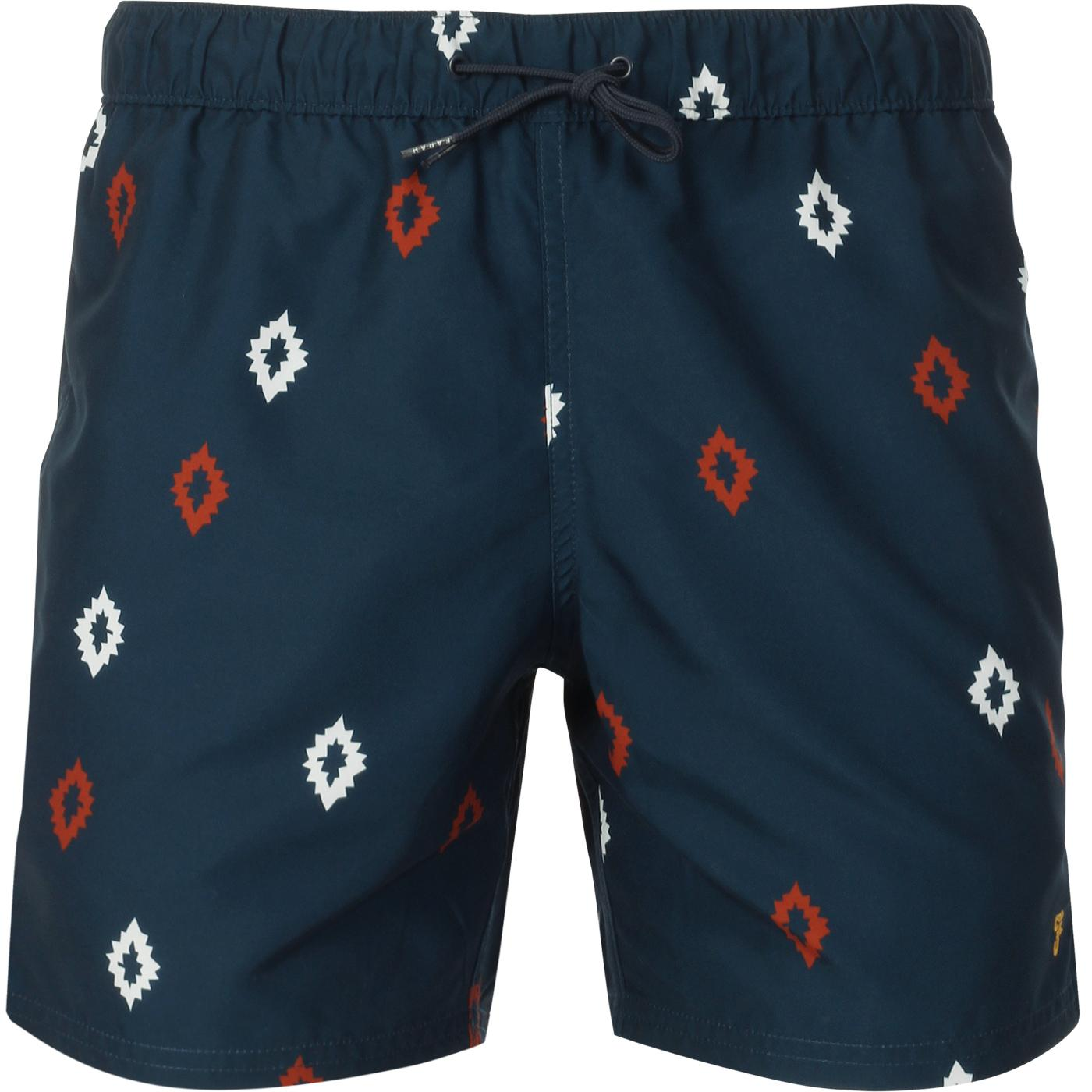 Colbert FARAH 100 Retro Diamond Swim Shorts (Teal)