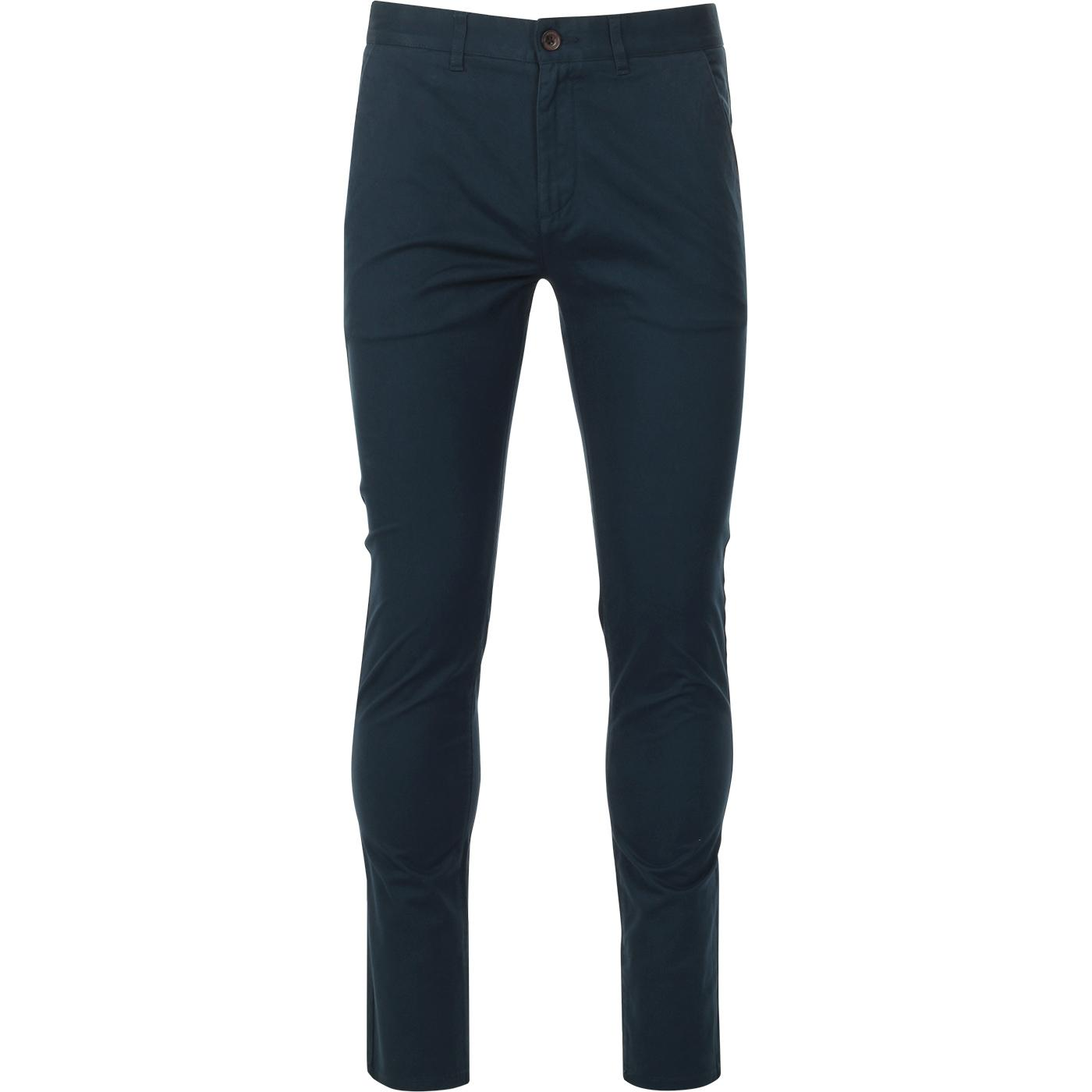 Drake FARAH Retro Mod Twill Chino Trousers (Teal)