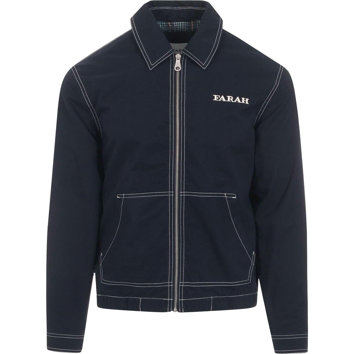 Fairbanks FARAH Retro Stitch Coaches Jacket (Navy)