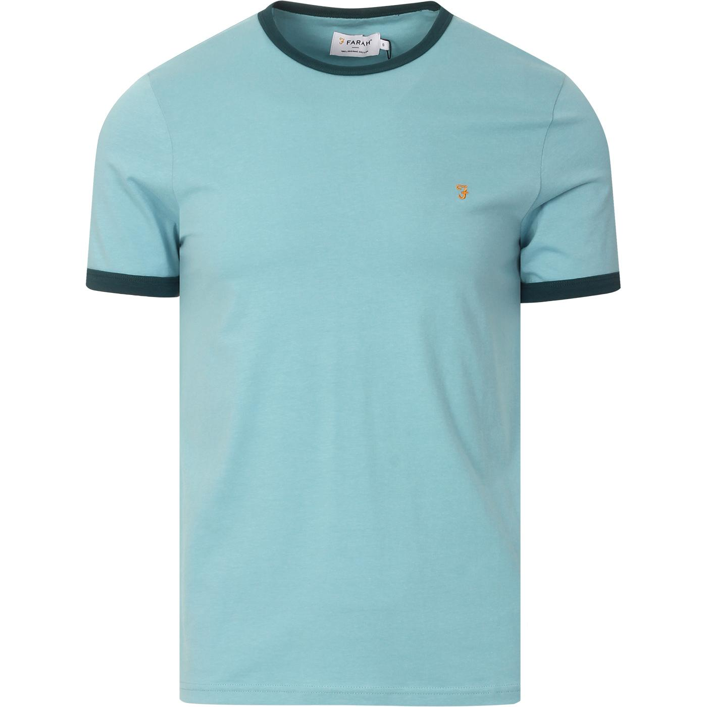 Groves FARAH Retro Mod Ringer Tee (Reef Green)