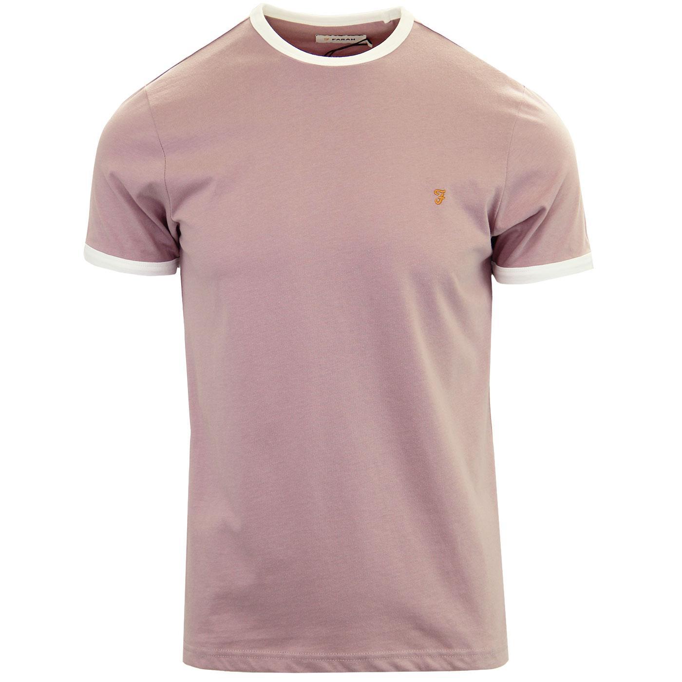 Groves FARAH Retro Mod Ringer T-Shirt (Wisteria)