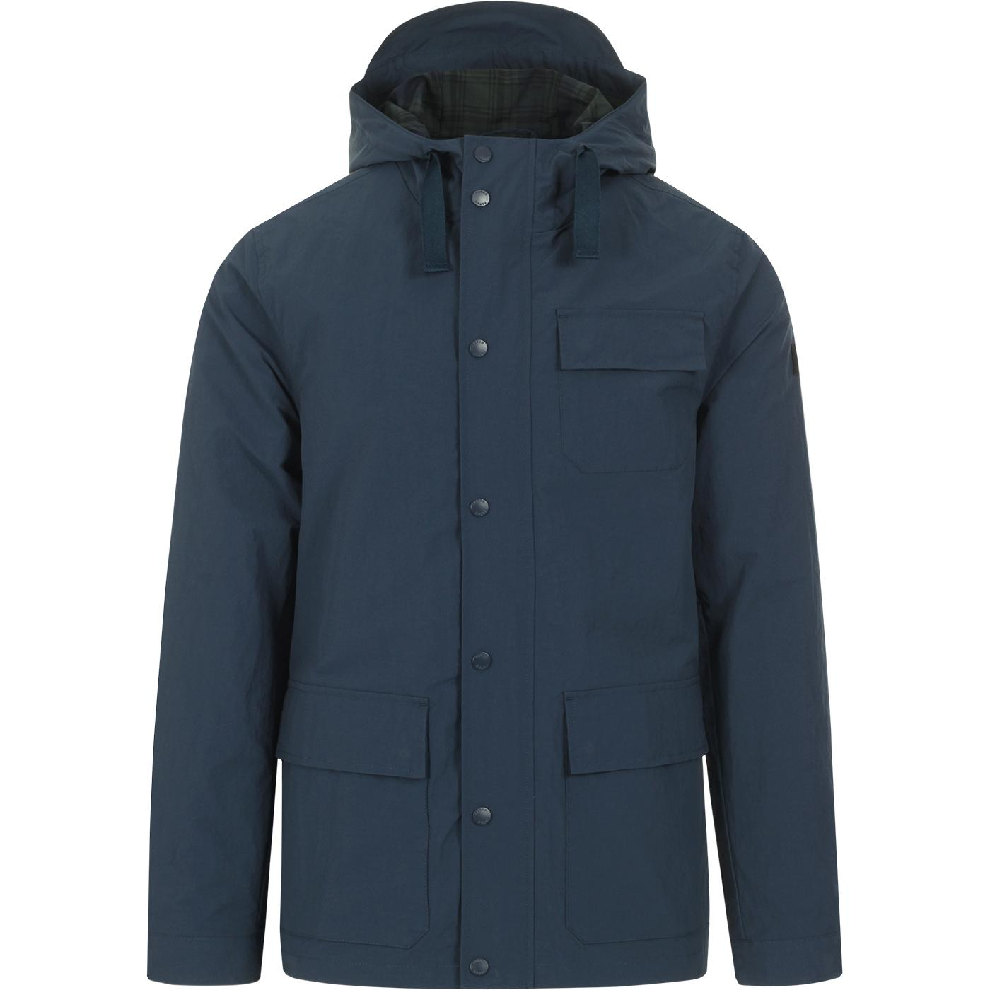 Hanley FARAH 100 Retro 3 Pocket Hooded Coat (Teal)