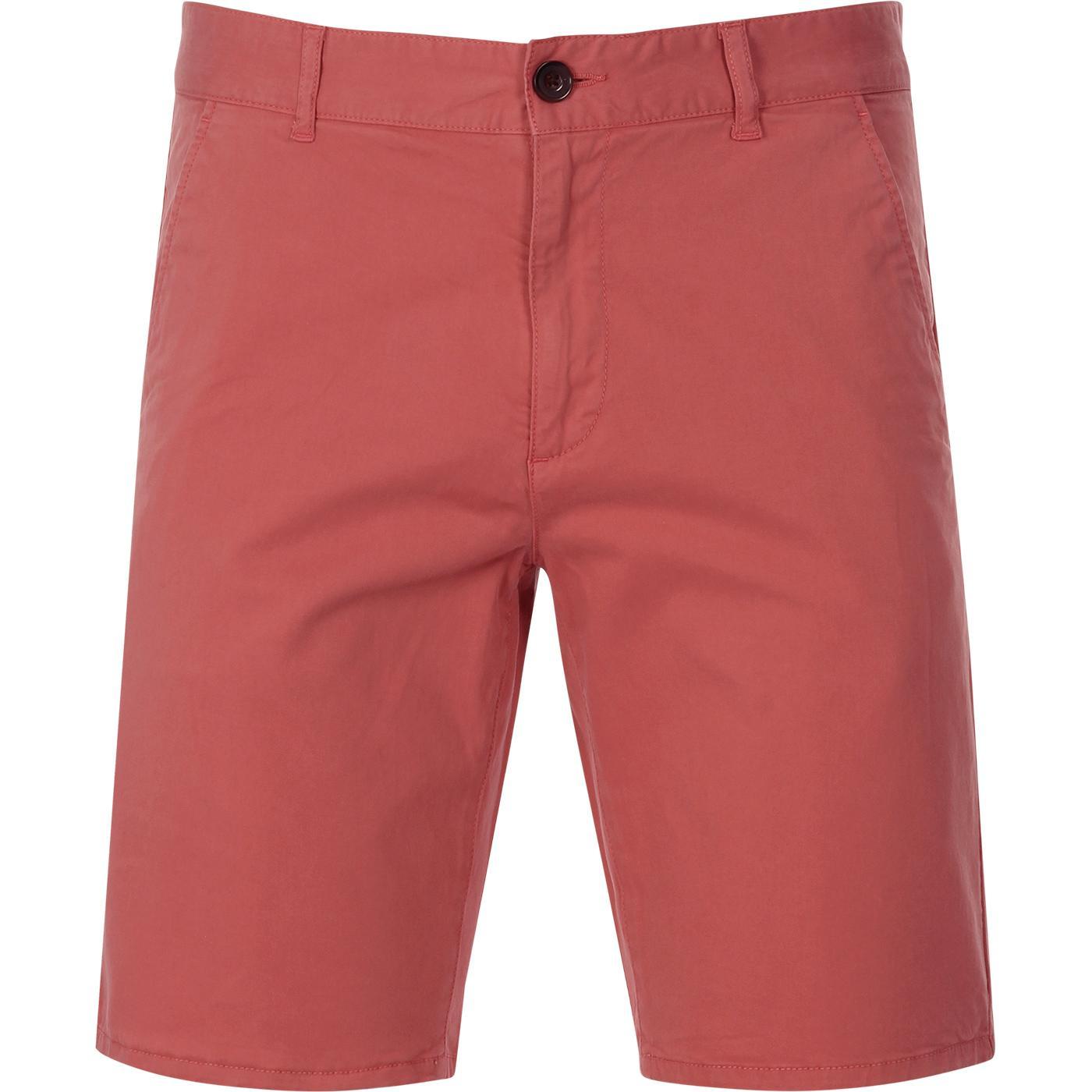 Hawk FARAH Men's Retro Chino Shorts (Jalapeno)