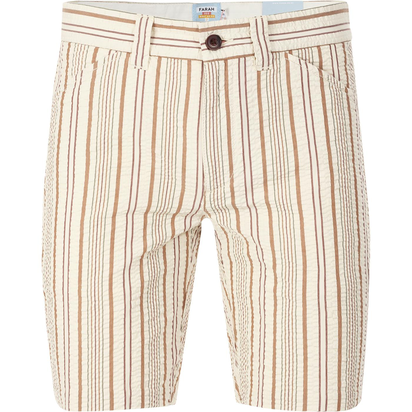 Hawk FARAH 100 Retro 60s Seersucker Stripe Shorts