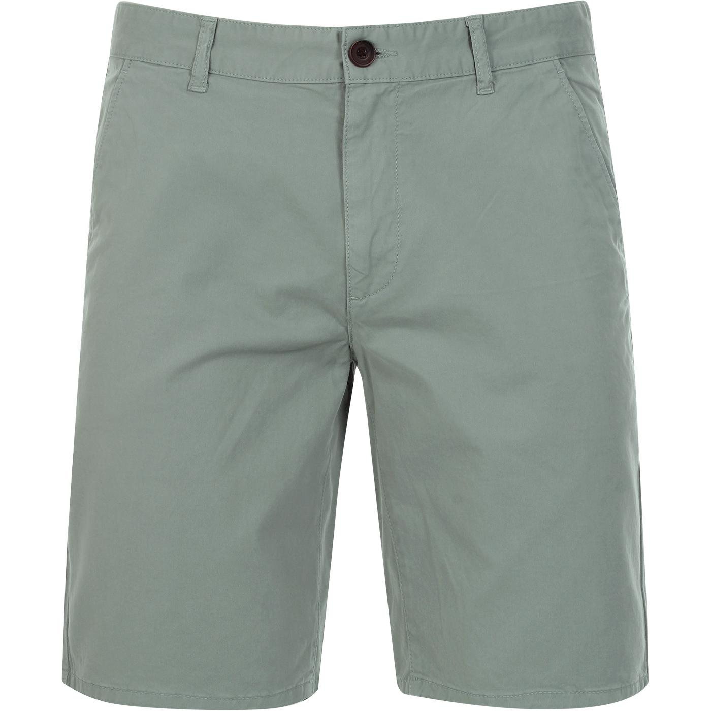 Hawk FARAH Men's Retro Chino Shorts (Green Mist)