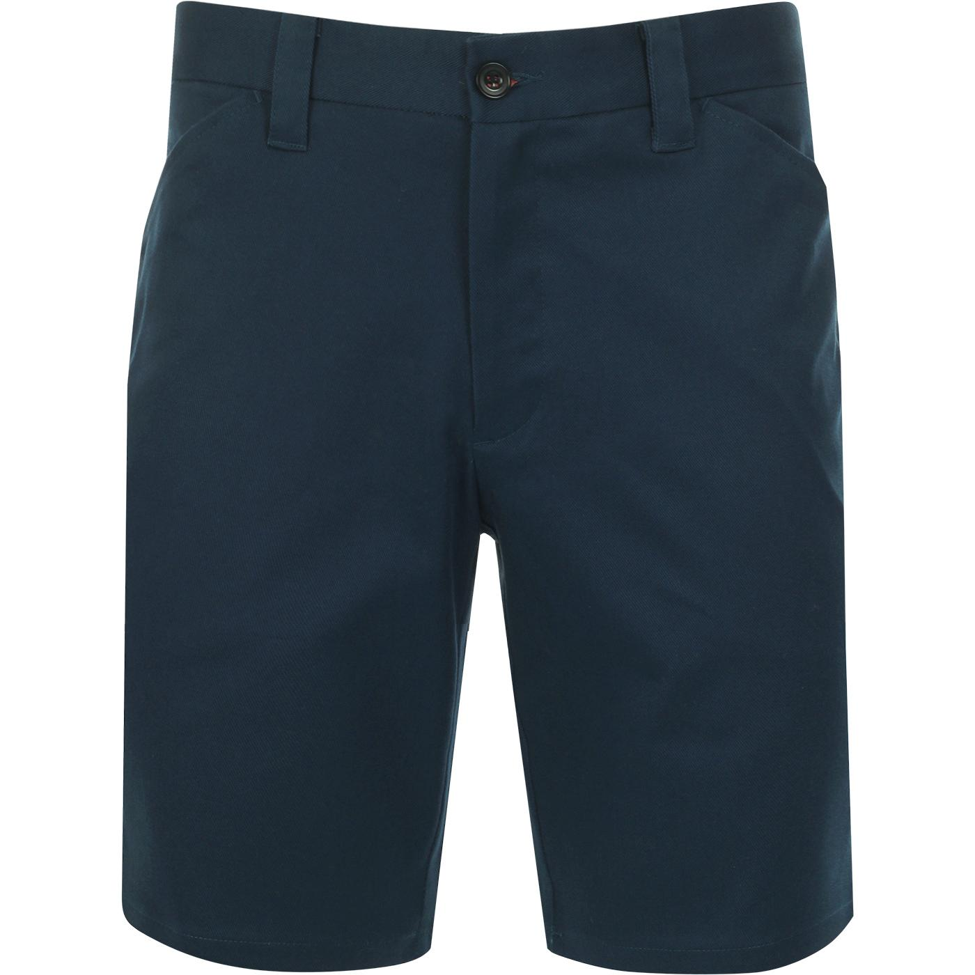 Hawk FARAH Men's Retro 4 Pocket Chino Shorts TEAL
