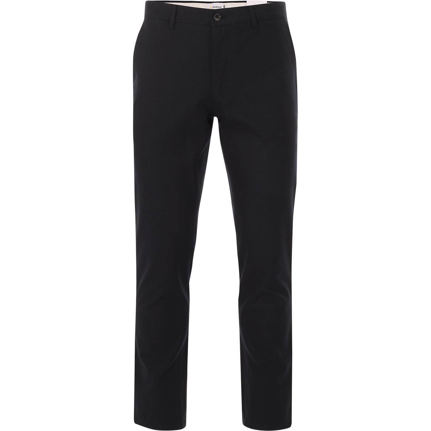 Elm FARAH Retro Mod Slim Hopsack Trousers (TN)