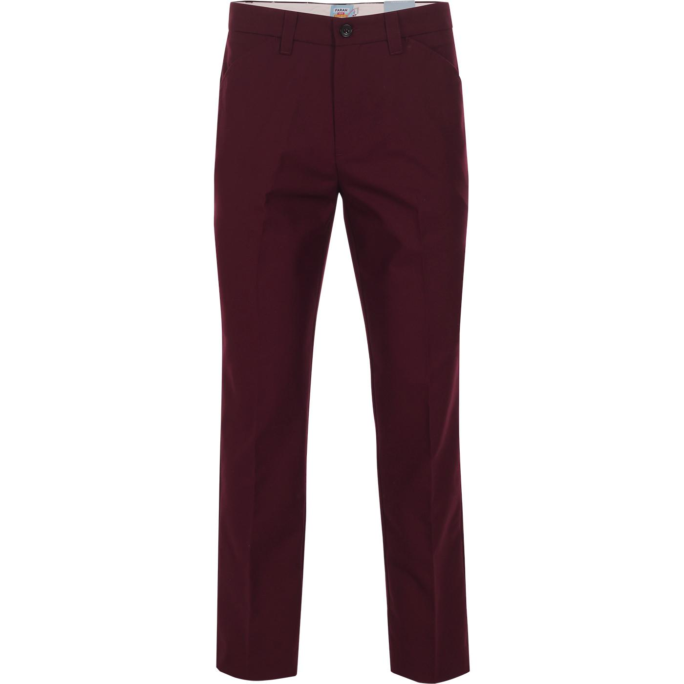 FARAH 100 Original Hopsack Weave Mod Trousers (R)