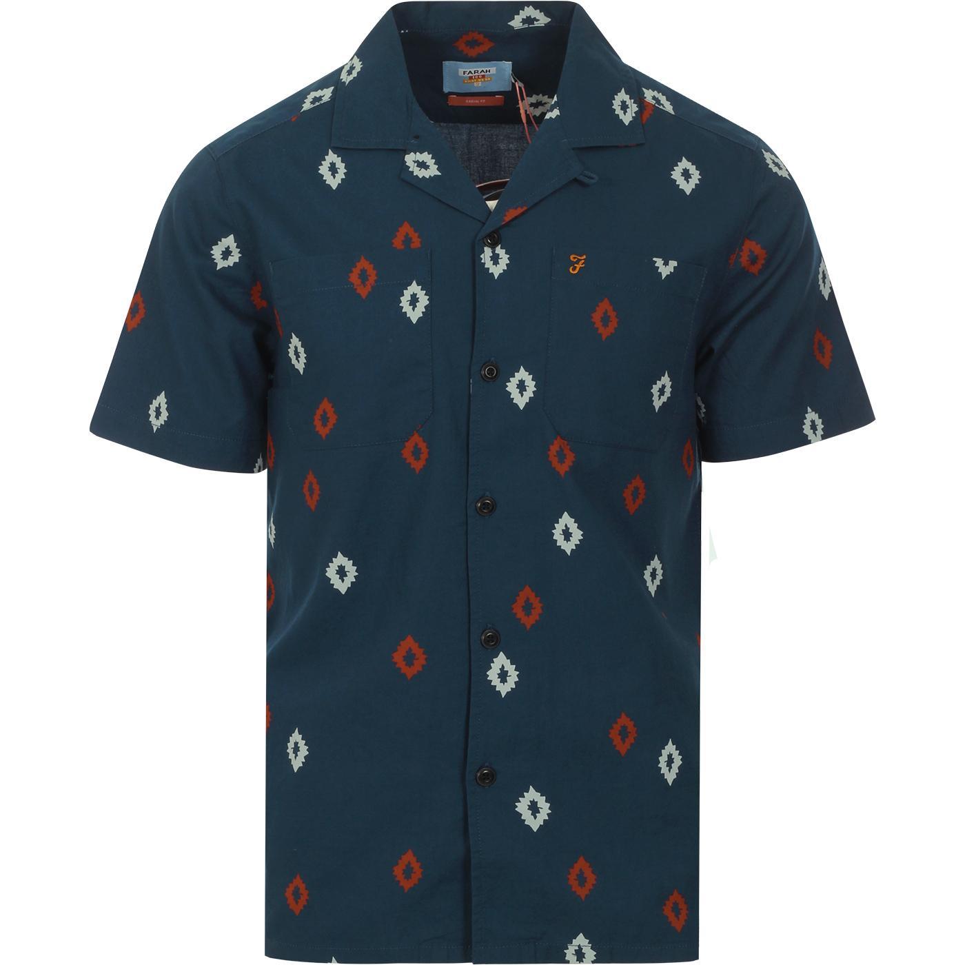 Hutchins FARAH 100 Archive Cuban Collar 70s Shirt