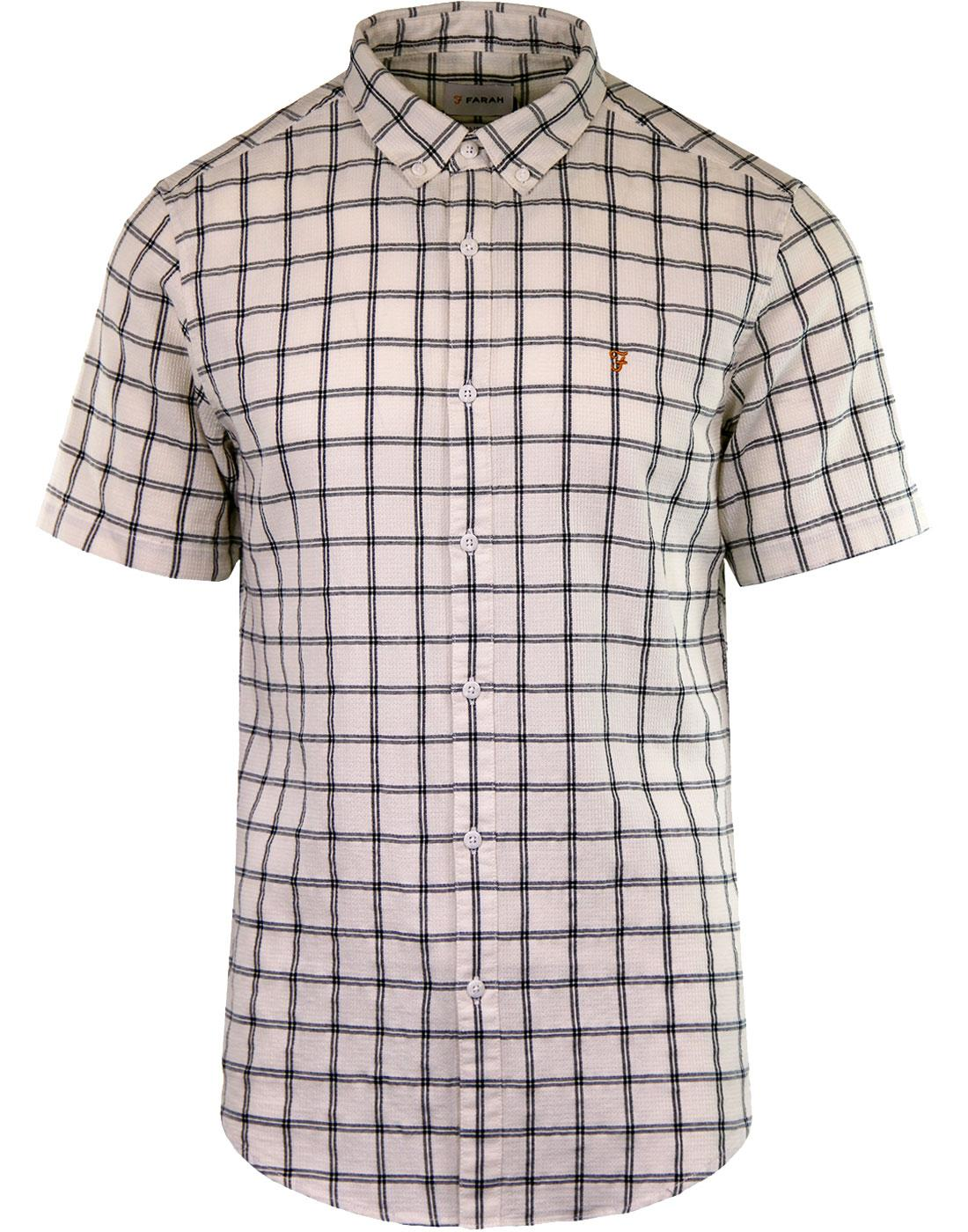 Johnson FARAH 60s Textured Windowpane Check Shirt